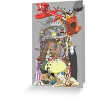 Studio Ghibli Characters Greeting Card