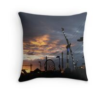 Sunset at the Melbourne Show, 2010 Throw Pillow