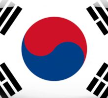 South Korea Flag Glass Oval Die Cut Sticker Sticker
