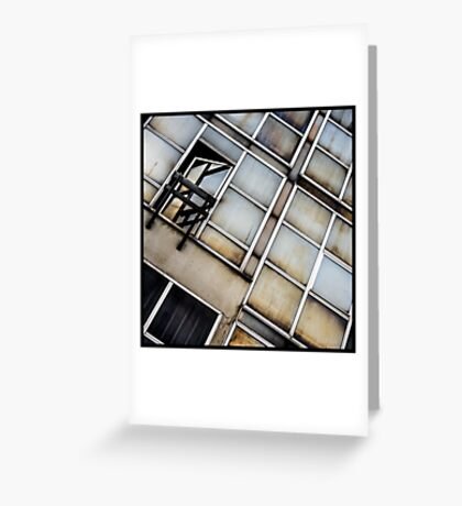 Decayed Glass Panes Greeting Card