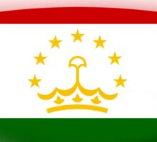 Tajikistan Flag Glass Oval Die Cut Sticker Sticker