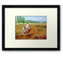 """""""King Harvest"""" Framed Print"""
