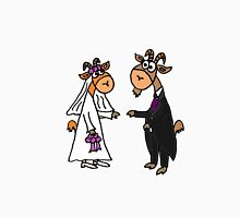 Funny Cool Goat Bride and Groom Wedding Art Unisex T-Shirt