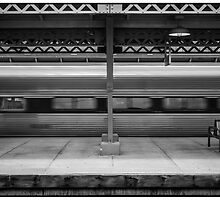 Departing Amtrak Train by Michel Godts