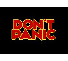 Dont Panic - The Hitchhiker's Guide to the Galaxy Photographic Print