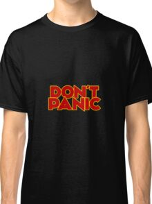Dont Panic - The Hitchhiker's Guide to the Galaxy Classic T-Shirt