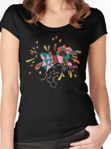 psychedelic mandala Women's Fitted Scoop T-Shirt