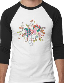 psychedelic mandala Men's Baseball ¾ T-Shirt