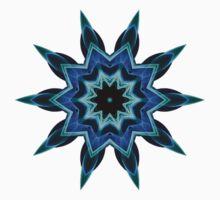 Blue Flame Tee One Piece - Long Sleeve