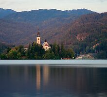 View across Lake Bled , Slovenia . by Ian Middleton
