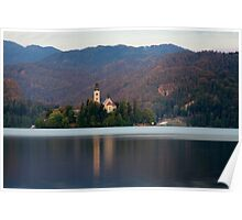 View across Lake Bled , Slovenia . Poster