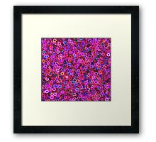 Pink Faux Flowers Framed Print
