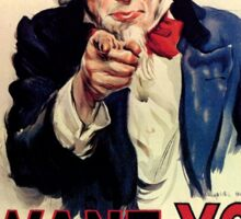 Uncle Sam - I Want You for US Army Sticker
