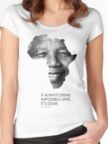 Nelson Mandela Africa Women's Fitted Scoop T-Shirt