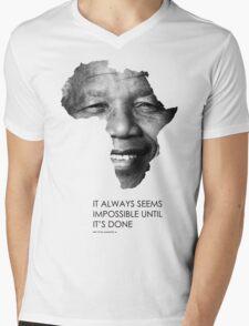 Nelson Mandela Africa Mens V-Neck T-Shirt