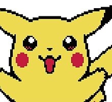 Pikachu Smile Happy Pixel by MountyBounty