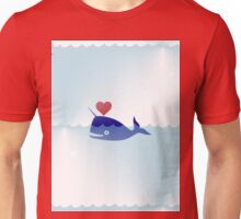 heart narwhal Unisex T-Shirt