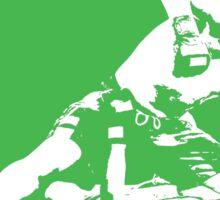 Brazilian Jiu Jitsu Knee On Belly Green  Sticker