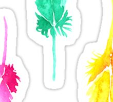 Rainbow Watercolor Feathers Sticker