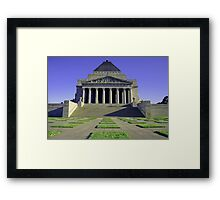 Shrine of Rememberance Framed Print