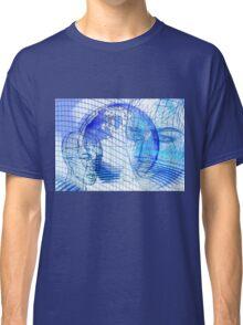 Blue Scape Head Wire  Classic T-Shirt
