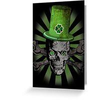 Patrick's Day Skull Greeting Card