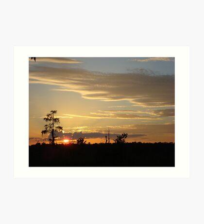 Beautiful October Sunset 2015 Art Print