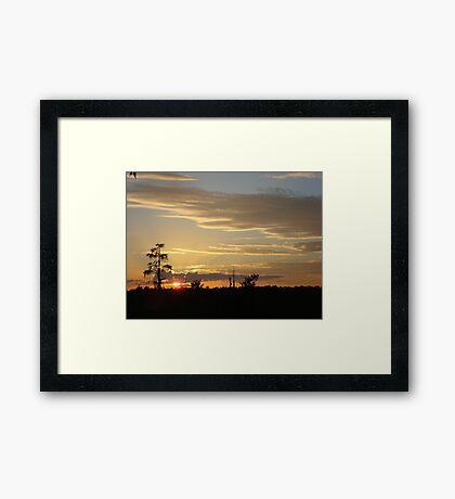 Beautiful October Sunset 2015 Framed Print