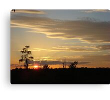 Beautiful October Sunset 2015 Canvas Print
