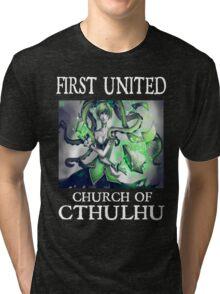 Cthulhu Magic Tentacle Girl Tri-blend T-Shirt