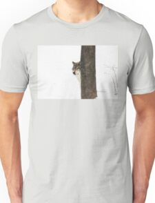 Hide and Seek! - Timber Wolf Unisex T-Shirt