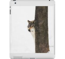 Hide and Seek! - Timber Wolf iPad Case/Skin