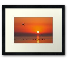 sunrise at chong-ming Framed Print