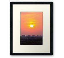 sunset at chong-ming village Framed Print