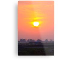 sunset at chong-ming village Metal Print