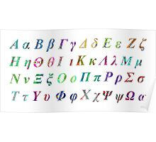 Greek Alphabet White 1 Poster