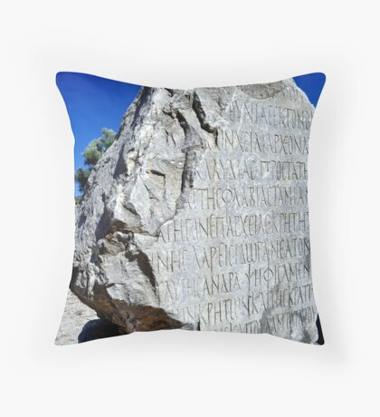 Ancient Greek writing. Throw Pillow