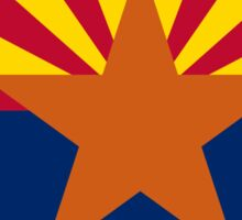 Arizona State Flag & Outline Sticker