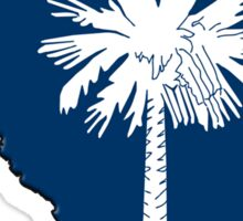 South Carolina State Flag & Outline Sticker