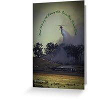 Erickson Sky-Crane fighting bushfire near Drouin Greeting Card