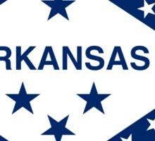 Arkansas State Flag & Outline Sticker