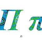 Pi Greek Alphabet by joancaronil