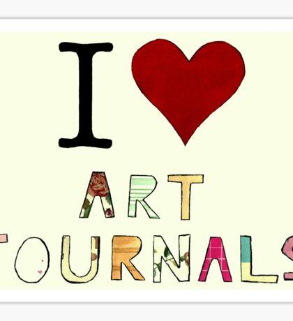 I Love Art Journals Sticker