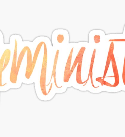Feminist Typography 1 Sticker