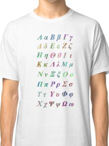 Greek Alphabet Classic T-Shirt