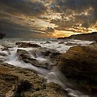 Sunset on the Rocks by Beverly Cash