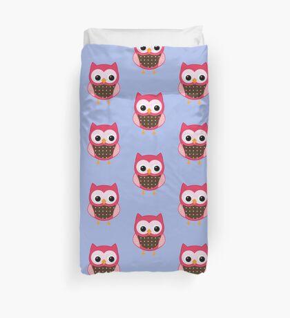 Pink Owl Duvet Cover