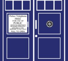 VWORP VWORP TARDIS Sticker