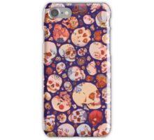 Skull Doodles - blue iPhone Case/Skin
