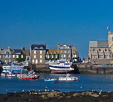 Barfleur, a fishing village in Normandy by cclaude